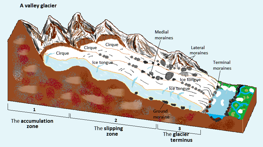 The accumulation zone is the highest part of the glacier  The snow. Watch more like Glacier Forming With Parts